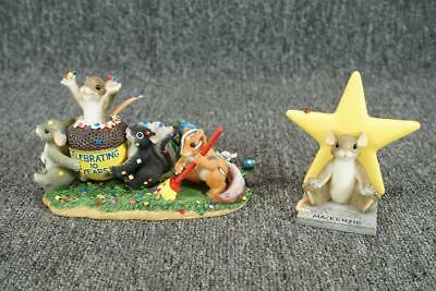 Fitz & Floyd Charming Tails Figurine Set W/ Boxes Set Of 2