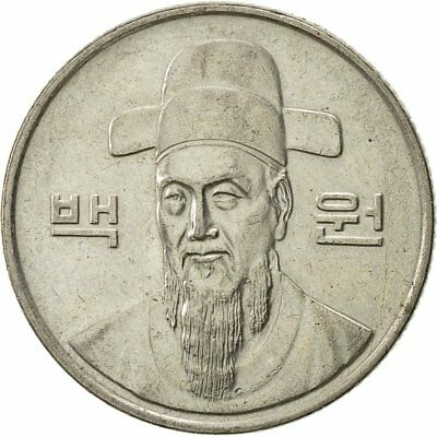 [#521303] KOREA-SOUTH, 100 Won, 1991, EF(40-45), Copper-nickel, KM:35.2