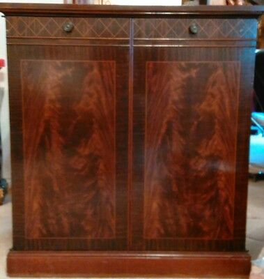 MAKE OFFER Vintage - Wood 2 Door 1 Drawer 2 Shelf Sideboard or Buffet Cabinet
