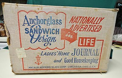 Anchor Hocking 12Pc. Sandwich Glass Starter Set  New In Original Box