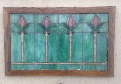 antique leaded stained glass window circa 1900 exceptional piece