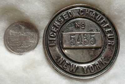 New York 1910 Licensed Chauffeur Badge # 5435