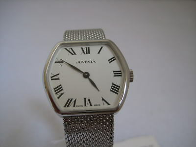 Nos New Vintage Swiss Hand Winding Analog Stainless Steel Juvenia Watch 1960's
