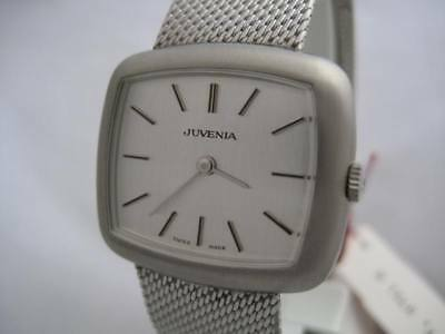 Nos New Swiss Vintage Hand Winding Juvenia Stainless Steel Woman's Watch 1960's