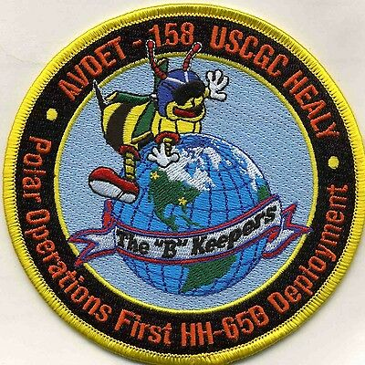 "USCG Coast Guard Patch - AVDET-158  ""The ""B"" Keepers"" (4.5"" round) (fire)"