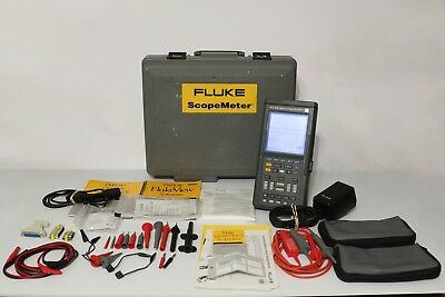 Fluke 105B Series II 100MHz ScopeMeter + FlukeView + PM9080 + Accessories + Case