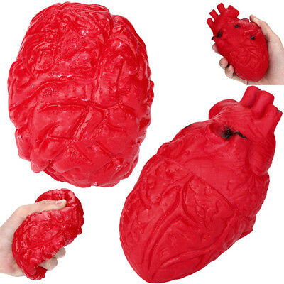 Novelty Silicone Stress Ball Scary Organ Brain Heart Squeeze Stress Reliever Toy