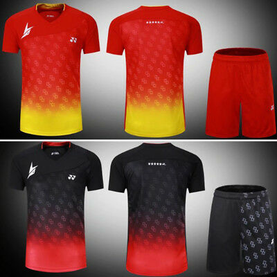 2017 World Championships men's Tops tennis/badminton T shirts +shorts 3081A