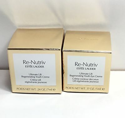Estee Lauder Re-Nutriv Ultimate Lift Regenerating Youth Eye Face Creme Duo