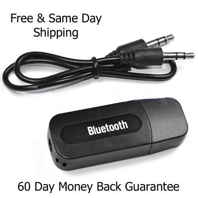 Wireless Bluetooth 2.1 3.5mm Audio USB Receiver Adapter Music Dongle A2DP In Car