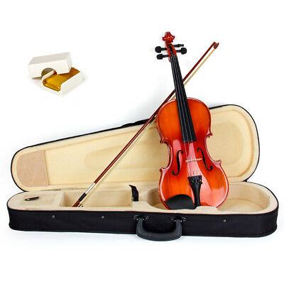 Professional Violin 4/4 Size Acoustic Fiddle Musical Instrument W/Case Bow Rosin