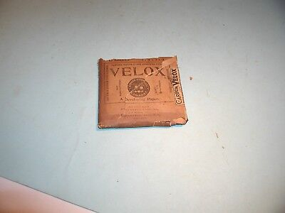 """Early 1900 """" Velox """" Developing Paper"""