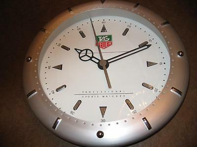 "Tag Heuer 14"" Wall Clock *** Rare *** Collector Item"