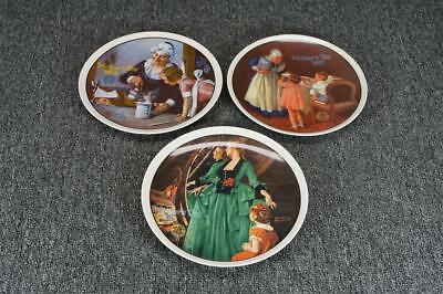 Vintage Edwin M. Knowles China Norman Rockwell 3 Mother's Day Collector Plates