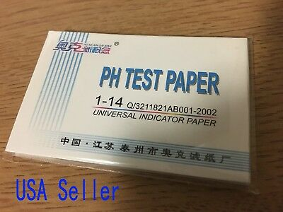 Ph Paper Test Strips 1 Litmus 14 Indicator Urine Saliva Tester Water