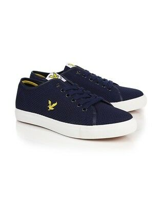 Lyle & Scott Men's Dunbar Mesh Trainers – Navy Original UK8