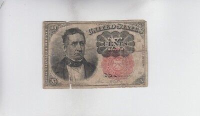 Fractional Currency Civil War Era Item one note f-vf minor stain