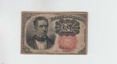 Fractional Currency Civil War Era Item one note fine stain