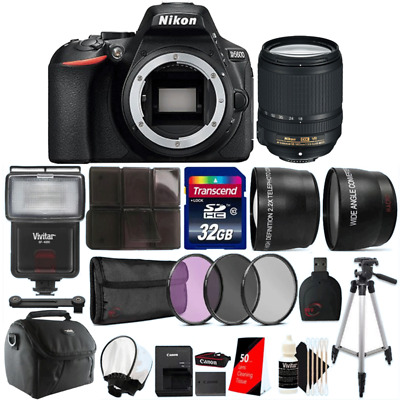 Nikon D5600 24.2MP DSLR Camera with 18-140mm VR Lens and Accessory Bundle