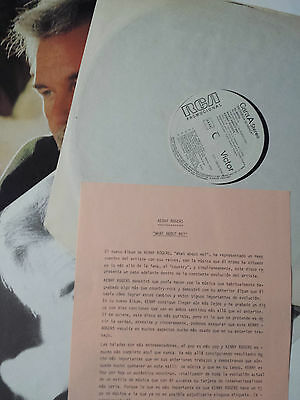 """Kenny Rogers """"what About Me"""" Spanish Promo Lp Vinyl With Lirycs & Press Note"""