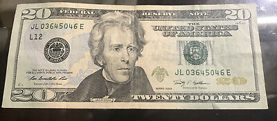 $20  Bill - Federal Reserve Note - FAST SHIPPING!