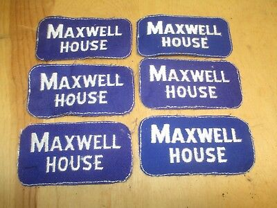 6 Vintage Patches - Maxwell House - Coffee Patches