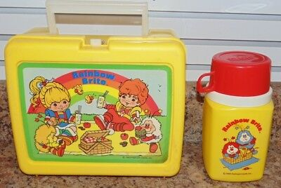Vintage Rainbow Brite Lunchbox with Thermos 1983