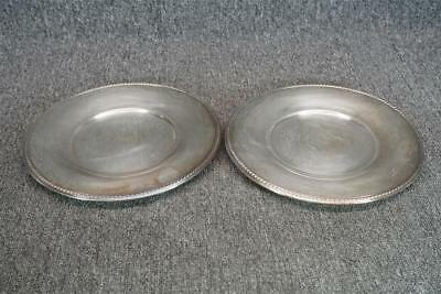 "10.5"" Wide Set Of 2 Silver Plated Serving Trays International Silver Co. #673"