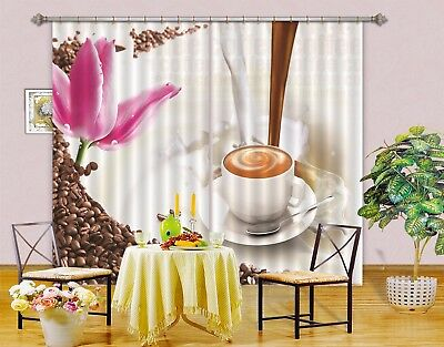 3D Coffee 62 Blockout Photo Curtain Printing Drapes Fabric Window CA Carly