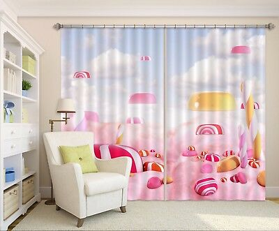 3D Candy 62 Blockout Photo Curtain Printing Drapes Fabric Window CA Carly