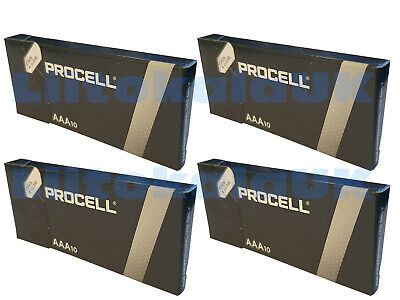 40X Duracell Industrial AAA Alkaline Batteries Replaces Procell MN1500 1.5V LR03