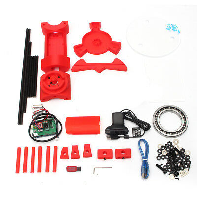 3D Scanner DIY Kit Open Source Object Scaning Plate For Ciclop Printer Scan Red