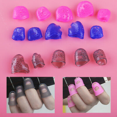 12pcs Silicone Guitar Finger Guards Fingertip Finger Picks Protectors 3 Size