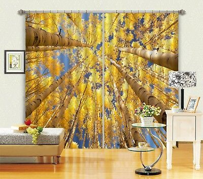 3D Golden Trees 59 Blockout Photo Curtain Printing Drapes Fabric Window CA Carly