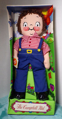 Campbell's The Campbell Kid ~ Boy ~ Rag Doll ~ New ~ Open Box ~ 1973 ~ Overalls