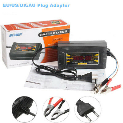 Auto Car Battery Charger 12V 10A Wet Dry Lead Acid Digital LCD AU / EU / US Plug