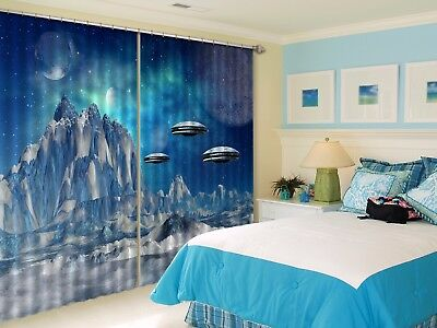 3D Magic Planet 56 Blockout Photo Curtain Printing Drapes Fabric Window CA Carly