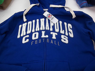 NWT Indianapolis Colts Distressed Vintage Style Hoodie Jacket Size Large
