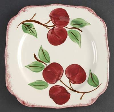 Blue Ridge Pottery CRAB APPLE Square Salad Plate 4688544