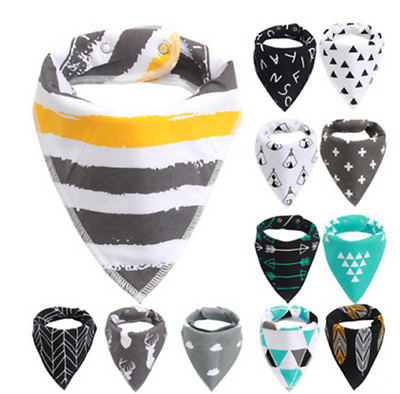1Pc New Toddler Infant Baby Bib Cotton Double Layer Triangular Towel Burp Cloth