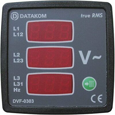 DATAKOM DVF-0303 72x72 digital voltmeter and frequency meter (3 Phase)