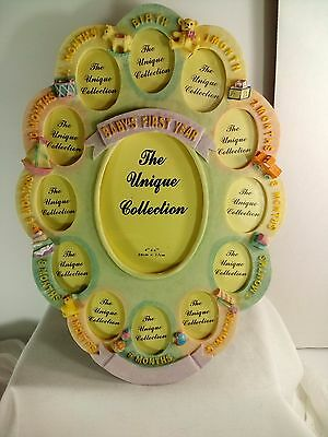 The Unique Collection My First Year Baby Birth-12 Month Photo Picture Frame-New