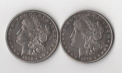 1878 Two Face Morgan Dollar Toned Two Headed Novelty Trick Coin Magic Fantasy