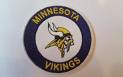 """Minnesota Vikings  vintage Embroidered Iron on  Patch   3"""" x 3"""" Nice Quality"""