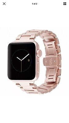 CaseMate Metal Linked Stainless Steel Watch Band For 32mm Apple Watch Rose Gold