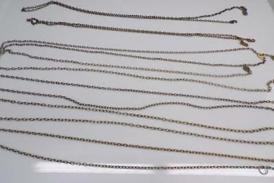 Lot of Cuckoo Clock Grandfather Chain in Assorted Sizes and Lengths E615a