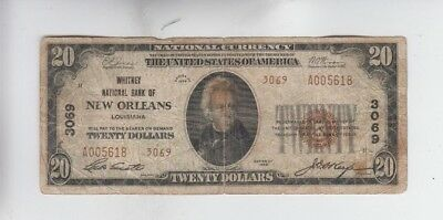 National Currency New Orleans La $20 1929-II low grade