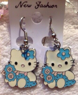 """NEW """"Hello Kitty"""" Earrings/USA Seller!! QUICK SHIPPING!"""