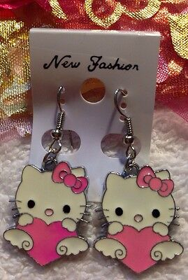 """NEW """"Hello Kitty"""" Earrings/USA Seller!! QUICK Shipping! FREE GIFT BAG"""