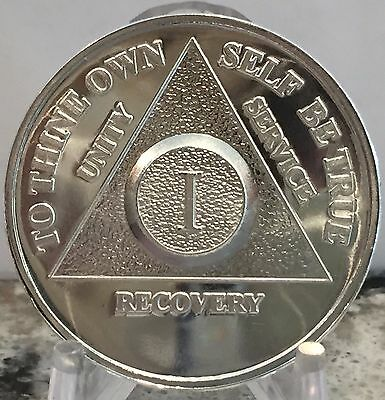 1 - 30 35 40 Year .999 Fine Silver AA Alcoholics Anonymous Medallion Chip Coin
